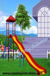 Frp Wave Slide With Roof