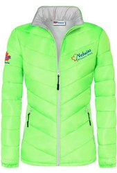 Nebulus Full Sleeve Ladies Zipper Polyester Jacket, Size: M-XXL