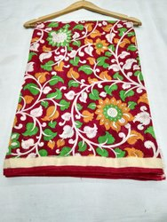 Casual Wear Digital Print Banarasi Pure Cotton Printed Saree, 5.5 m (separate blouse piece), Machine Made