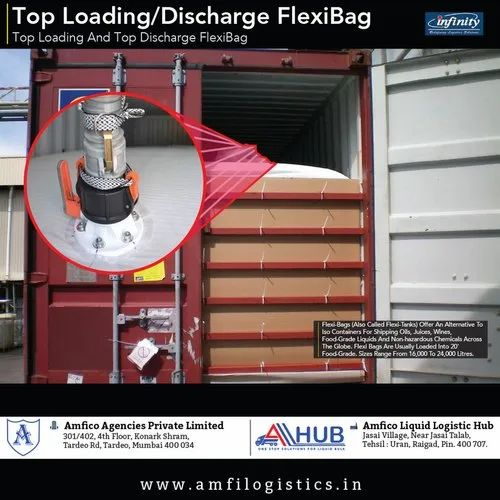 Stainless Steel 316 Top Loading Top Discharge Flexi Tank, Capacity: 5000 - 10000 ton