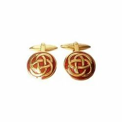 Golden and Red Infinity 92.5 Sterling Silver Cufflinks