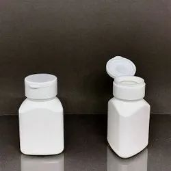 HDPE Triangular Base Capsule Bottle With Flip Top Cap