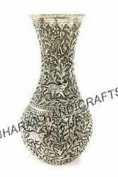 Antique Metal Flower Vases