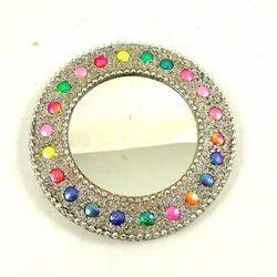 Mahesh Handicraft Round Lac Mirrors, For Home