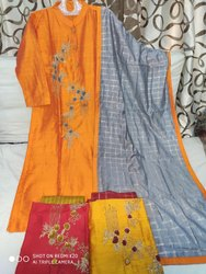 Embroidery Work Kurti For Women