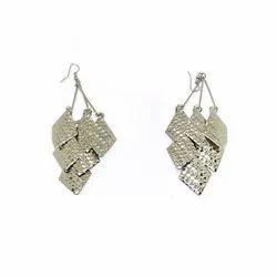 Ladies Silver Artificial Earrings