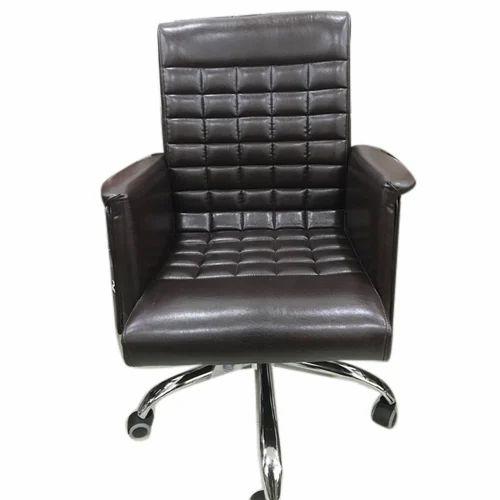 Dark Brown Designer Office Chair