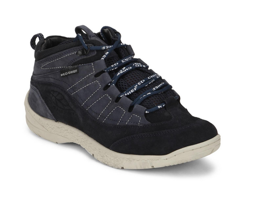 Red Chief Dark Blue Mid Ankle Leather