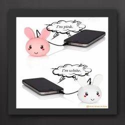 Lithium Battery Round Cute Rabbit Mini Mobile Speaker