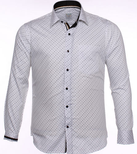 4999bacd S10552 Formal White Shirt With Polka-Dots at Rs 995 /piece ...