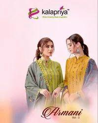 Kalapriya Armani Vol-3 Rayon Printed Dress Material Catalog Collection