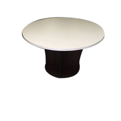 Wooden Round Center Table, Height: 3-4 Feet