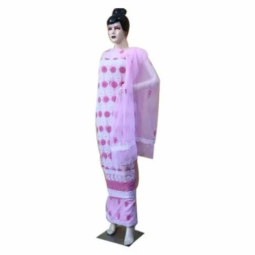 Pink Chiffon Ladies Fancy Suits