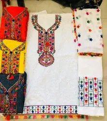 Multi Pc Cotton embroidered salwar kameez