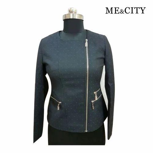 City M L Ladies Fancy Winter Jacket, Fancy Winter Coats For Ladies