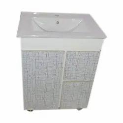 White Pvc Single Bathroom Vanity Cabinet Size 32 X 24 X 17 Inch Id 20705736630