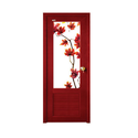 Half Digital Flower Printed PVC Door