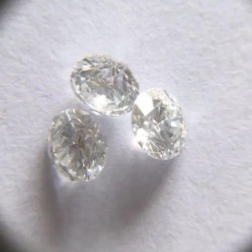 AJRETAIL 1 Carat 6.5mm SI1 Clarity j Color Lab Grown CVD Type2A Diamond