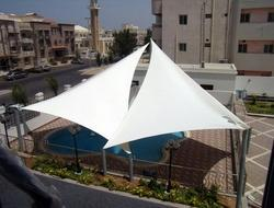 Triangular Swimming Pool Tensile Structure