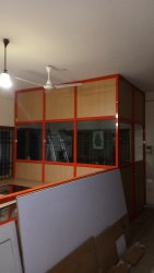 White Swing Office Aluminum Door for Commercial Building