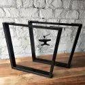 Black Mild Steel Metal Table Leg, Size: 65x8x73 Cm