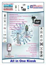 Atomatic Sanitizer Dispenser Cum Temperature Kiosk