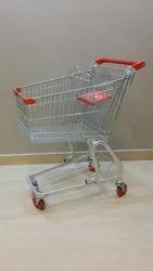 Four-Wheel Steel Shopping Trolley, Load Capacity: 100 - 150 Kg