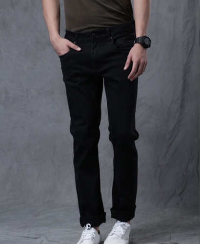 be148aba5d51 Men Jeans - Men Black Slim Fit Mid Rise Clean Look Jeans ...