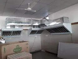 GI Duct With Stainless Steel Hood, Size: 1200x800x600 Mm