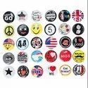 Plastic and Metal Button Magnetic Name Badge,Badges
