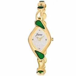 Jainx Golden Bracelet Oval Analog Watch For Women And Girls - JW656