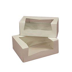 Paper Rectangular Pastry Packaging Box