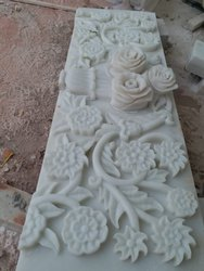 Handmade Marble Flower Carving Work