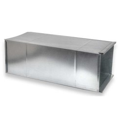 Stainless Steel Rectangular Kitchen AC Duct, For Commercial