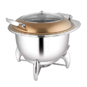 Round Rose Gold Glass LID Soup Tureen W Smart Leg