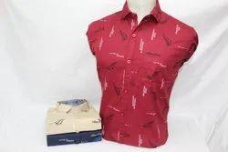 Cotton Full Printed Shirt, Size: M-xxl