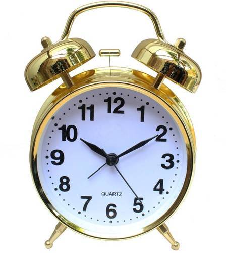 Brass Twin Bell Alarm Clock