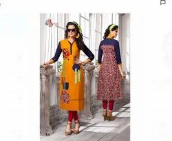 Yellow Ladies Designer Kurti