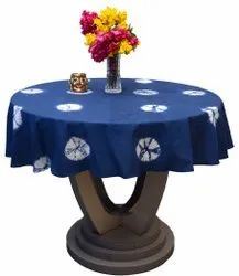 Round Cotton Tablecloths Hand Tie Dye Table Covers for Party Size 60 Inches