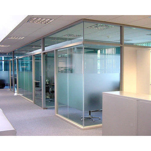 Stainless Steel Office Glass Partition Rs 250 Square