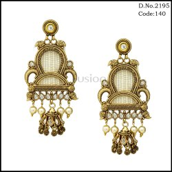 Traditional Pearl Polki Jhumka Earrings