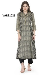 Fancy Cambric Printed Stitched Kurti
