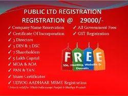 Public Limited Company Registration Service, Company Location: Pan India
