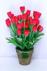 Artificial Bud Rose Flowers Arrangements, For Decoration Purpose