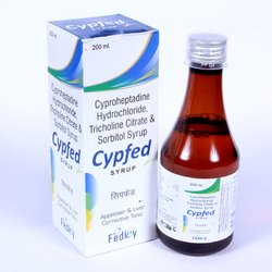 Cyproheptadine2 Mg, Trichloline Citrate 275mg, Sorbitol   Syrup