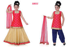 Anarkali Churidar Lehenga For Kids Set