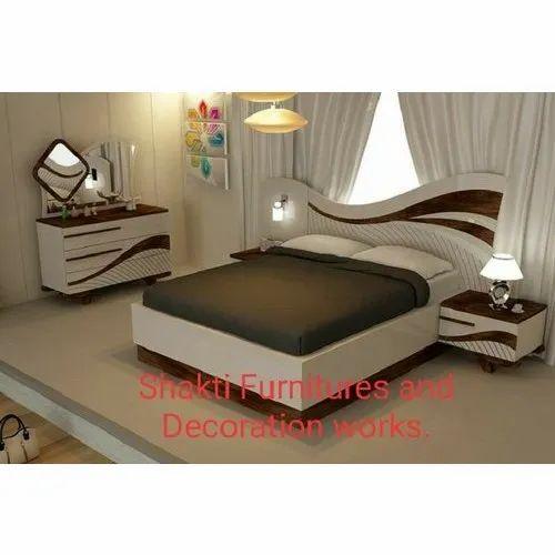 Wood Dazzling Modern Wooden Bedroom Set