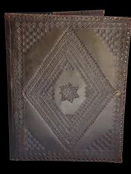 Brown Designer Embossed Leather Diary