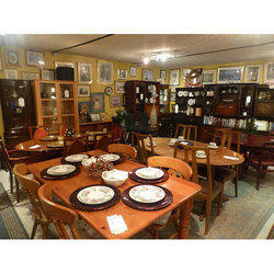 Brown Wooden Restaurant Furniture Set