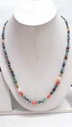 Navaratnas Navagraha Nine 9 Gems Jewelry Design Single Layer Necklace Set